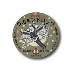 AM14 ウカルンドロップ 32mm缶バッジ ニッポン!昭和レトロ風絵はがき 安楽雅志