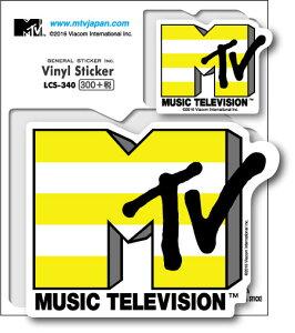 MTV ロゴステッカー イエローボーダー LCS340 音楽 ミュージック グッズ