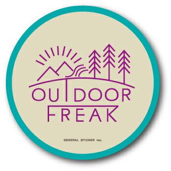 OD-01/OUTDOOR FREAKステッカー01/アウトドアシリーズ/ロゴ/サークルステッカー