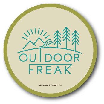 OD-02/OUTDOOR FREAKステッカー02/アウトドアシリーズ/ロゴ/サークルステッカー