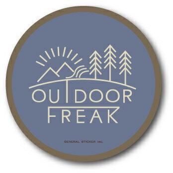OD-03/OUTDOOR FREAKステッカー03/アウトドアシリーズ/ロゴ/サークルステッカー
