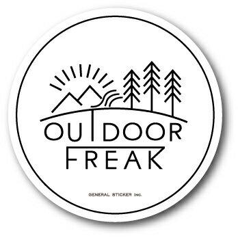 OD-05/OUTDOOR FREAKステッカー05/アウトドアシリーズ/ロゴ/サークルステッカー