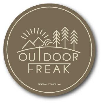 OD-06/OUTDOOR FREAKステッカー06/アウトドアシリーズ/ロゴ/サークルステッカー