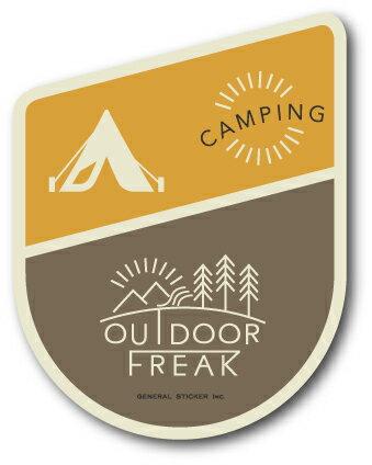 OD-08/CAMPING/キャンプ/OUTDOOR FREAKステッカー/アウトドアシリーズ