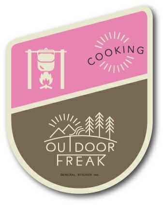 OD-10/COOKING/料理/OUTDOOR FREAKステッカー/アウトドアシリーズ