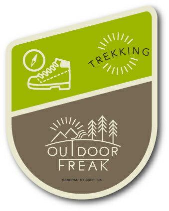 OD-12/TREKKING/トレッキング/OUTDOOR FREAKステッカー/アウトドアシリーズ