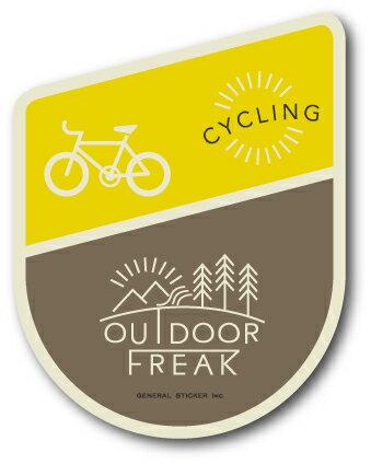 OD-13/CYCLING/サイクリング/OUTDOOR FREAKステッカー/アウトドアシリーズ