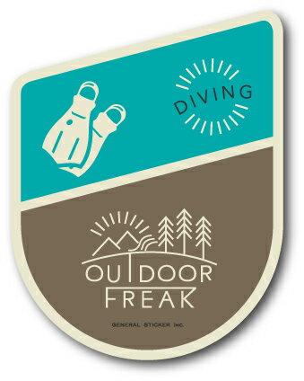 OD-17/DIVING/ダイビング/OUTDOOR FREAKステッカー/アウトドアシリーズ