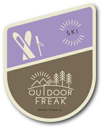 OD-18/SKI/スキー/OUTDOOR FREAKステッカー/アウトドアシリーズ