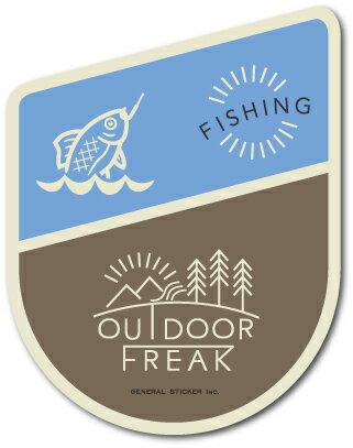 OD-09/FISHING/釣り/OUTDOOR FREAKステッカー/アウトドアシリーズ