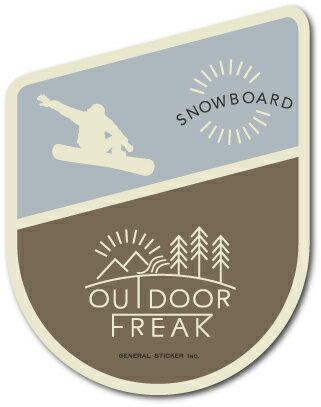 OD-21/SNOWBOARD/スノーボード/OUTDOOR FREAKステッカー/アウトドアシリーズ