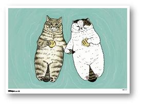 世にも不思議な猫世界 ミニポスター B5サイズ らっこねこ POS135 KORIRI ステッカー グッズ