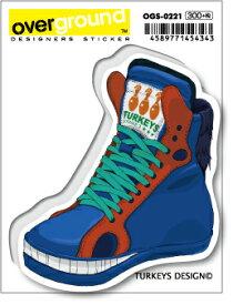 OGS0221 TURKEYS DESIGN Fantastic Derby ブルー アーティストグッズ イラストレーター ステッカー