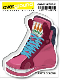 OGS0224 TURKEYS DESIGN Fantastic Derby ピンク アーティストグッズ イラストレーター ステッカー