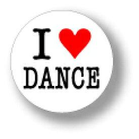 缶バッジ CBIL010 I LOVE DANCE ダンス
