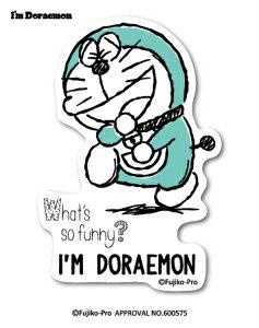 ドラえもん 透明ステッカー I'm DORAEMON ファニー LCS735 おしゃれ ステッカー サンリオ グッズ