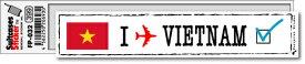 フットプリントステッカー FP032 ベトナム VIETNAM スーツケース ステッカー トラベル グッズ