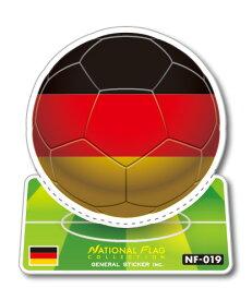 サッカーボールステッカー ドイツ GERMANY NF019 スポーツステッカー ワールドカップ