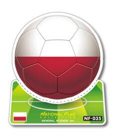 サッカーボールステッカー ポーランド POLAND NF035 スポーツステッカー ワールドカップ