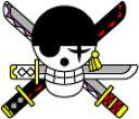 OPT-24 ゾロ海賊旗/ ワンピース(ONE PIECE)転写ステッカー