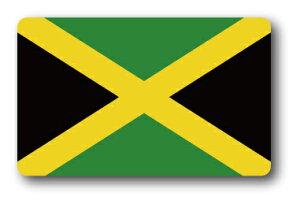 SK215 国旗ステッカー ジャマイカ JAMAICA 100円国旗 旅行 スーツケース 車 PC スマホ