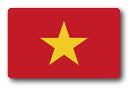 SK231 国旗ステッカー ベトナム VIETNAM 100円国旗 旅行 スーツケース 車 PC スマホ