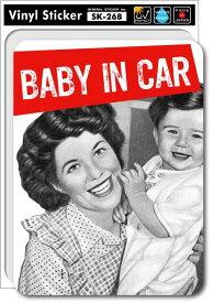 SK268 Baby in car PHOTOシリーズ02 ベビーインカー 出産祝いや車に