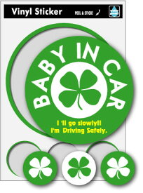 SK074 Baby in car 四葉のクローバー ベビーインカー 車 出産祝い