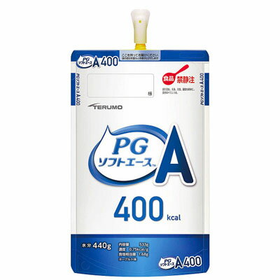 テルモ PGソフトエース (ピージー) 半固形状流動食ヨーグルト味533g(400kcal)×12個たんぱく質4.0g/100kcal 経管栄養 ピージーソフト