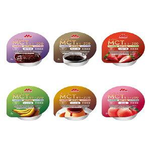 森永乳業 クリニコ エンジョイMCTゼリー200(6種各4個の計24個) 1個当たり72g げんき介オリジナルバラエティセット あずき コーヒー いちご バナナ プリン もも