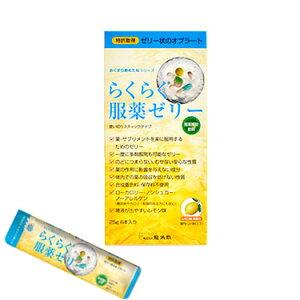 らくらく服薬ゼリースティックタイプ25g×6本入レモン味服薬補助飲料ゼリー状オブラート株式会社龍角散