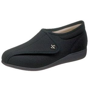 介護靴 婦人用 快歩主義L011(ブラックストレッチ)アサヒコーポレーション