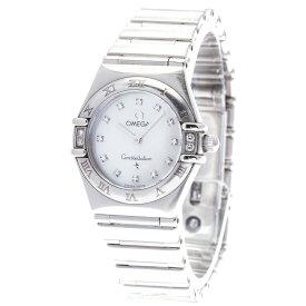 オメガ コンステレーション マイチョイス 12Pダイヤ 1566.76 シルバー ステンレススチール 腕時計 レディース OMEGA クオーツ ホワイト文字盤 【中古】