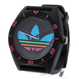 アディダス ADH2970 ブラック ラバー ステンレス 腕時計 メンズ adidas クオーツ ブラック文字盤 【中古】