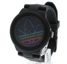 アディダス アバディーン ADH3014 ブラック ラバー 腕時計 レディース adidas クオーツ ブラック文字盤 【中古】