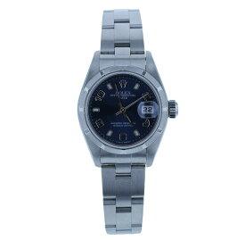 ロレックス オイスターパーペチュアル デイト 79190 シルバー ステンレス 腕時計 レディース ROLEX 自動巻き ブルー文字盤 【中古】