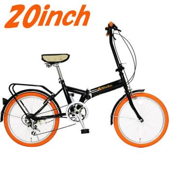 FD1B-206-OR 美和商事 Rhythm(リズム) 20インチ折畳自転車 6段変速 オレンジ【smtb-k】【ky】【KK9N0D18P】