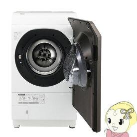 【設置込/右開き】 シャープ ES-WS13-TR ドラム式洗濯乾燥機 洗濯11kg 乾燥6kg ブラウン系 ES-WS13-TR【KK9N0D18P】
