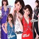◆あす楽対応◆とっても華やかなビジューたっぷり魅せドレス★フレアxスリット★背中もレースでゴージャス★ホルター…