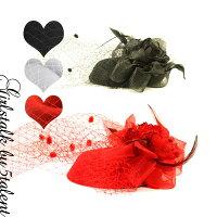 ◆あす楽対応◆ドデカ!ミニハットタイプのチュールレース♪ラメ薔薇フラワー付きダイナミックコサージュヘッドドレス【ドレス・ワンピース・結婚式・パーティ】【RCP】【カクテルハット】