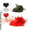 ◆あす楽即納◆ドデカ!ミニハットタイプのチュールレース♪ラメ薔薇フラワー付きダイナミックコサージュヘッドドレス…