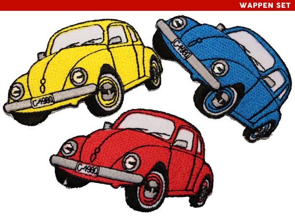 【アパレルスタッフセレクト】ワーゲン ビートル 3枚セット volkswagen ワッペン アップリケ わっぺん wappen アイロンで簡単貼り付け【サマーセール開催中 全品ポイント2倍 割引クーポン発行】