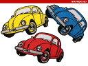 【アパレルスタッフセレクト】ワーゲン ビートル 3枚セット volkswagen ワッペン アップリケ わっぺん wappen/…