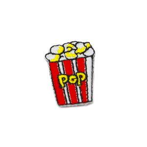 【アパレルスタッフセレクト】ワッペン アイロン ミニサイズ ポップコーン お菓子 かわいい アップリケ わっぺん 小さい アイロンで簡単貼り付け 1000円以上お買い上げでゆうパケット便送