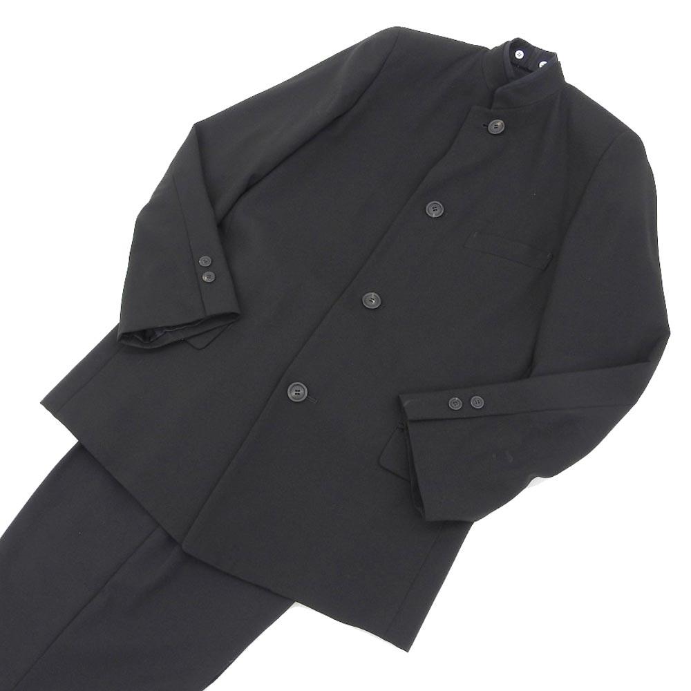 期間限定スーパーセール【中古】超美品 イッセイミヤケメン ISSEY MIYAKE MEN スタンドカラー 1タック ブラック スーツ S