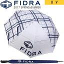 フィドラ FIDRA 晴雨兼用UVゴルフ FIDRAチェック柄パラソル 傘 アンブレラ カラー:ホワイト×ネイビー FA387074