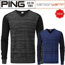 ピンアパレル PING メリノウールVネックセーターノールス KNOWLES 2018春夏 メンズ 全2色 S-XL P03293