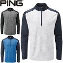 ピン PING ゴルフウェア バーティカル1/2ジッププルオーバー VERTICAL 1/2 ZIP 2020モデル メンズ S-XL 全3色 PO3399