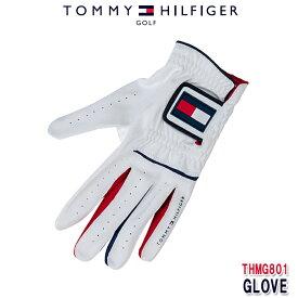 (ネコポス送料無料)トミーヒルフィガー TOMMY HILFIGAR THMG801 GLOVE ゴルフグローブ ホワイト