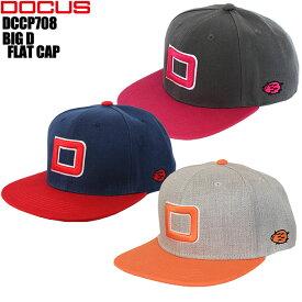 ドゥーカス DOCUS DCCP708 BIG D FLAT CAP 帽子 ゴルフキャップ